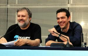 Slavoj Zizek dhe Aleksis Cipras